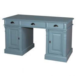 Bureau 3 tiroirs et 2 portes - ROMANE