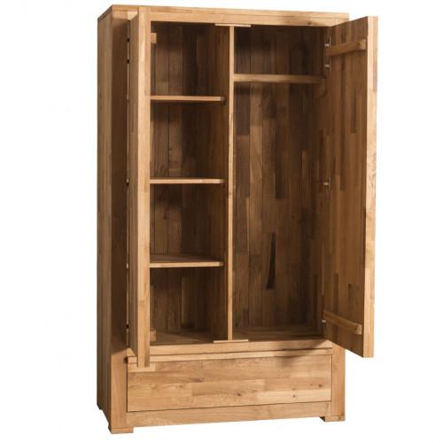 Armoire 2 portes 1 tiroir étagère et penderie - ROMANE