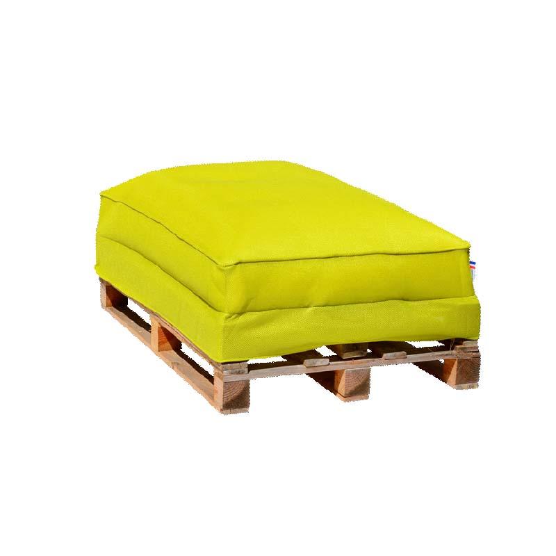 Sofa palette Vert Anis d\'extérieur SHELTO - Demeure et Jardin