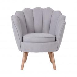 Ruby - fauteuil en suédine gris