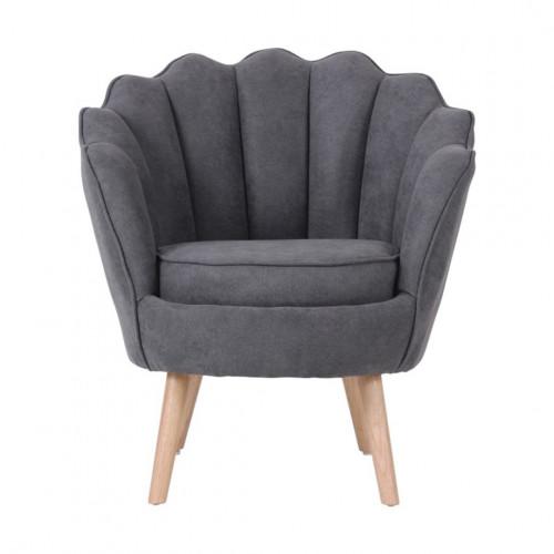 Ruby - fauteuil en suédine gris anthracite