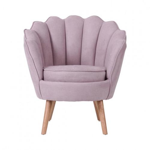 Ruby - fauteuil en suédine vieux rose