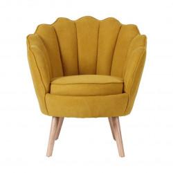 Ruby - fauteuil en suédine safran