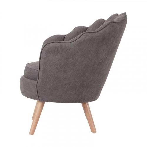 Ruby - fauteuil en suédine taupe