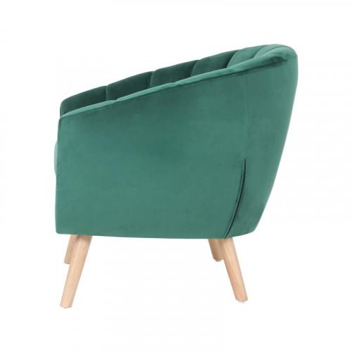 Skien - fauteuil en velours vert