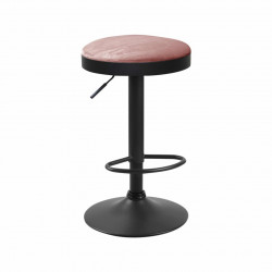 Texel - Tabouret de bar en velours rose