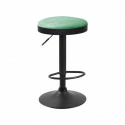 Texel - tabouret de bar en velours vert foncé