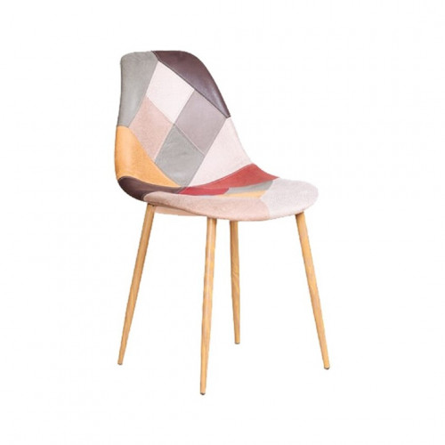 Chaise ARLEQUIN patchwork en simili