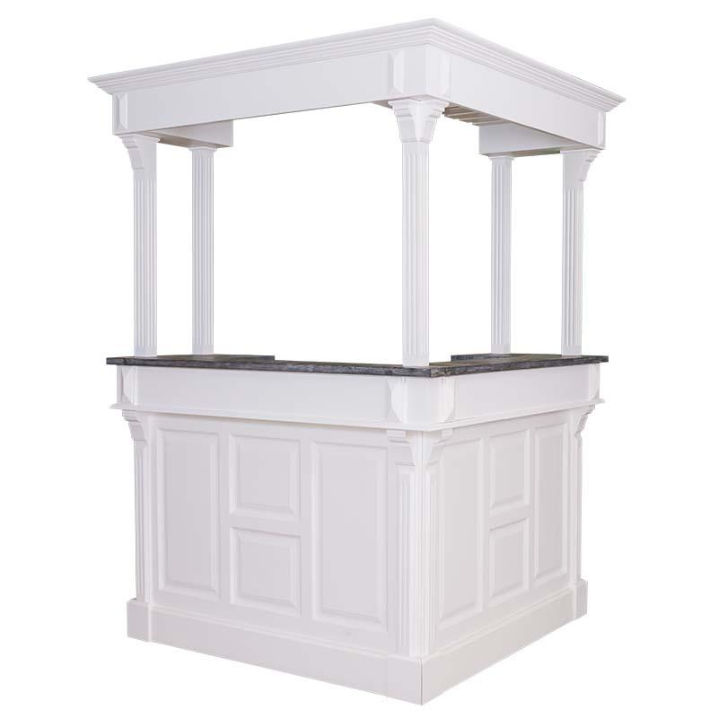 bar d 39 angle 240x240 cm avec plateau zinc demeure et jardin. Black Bedroom Furniture Sets. Home Design Ideas