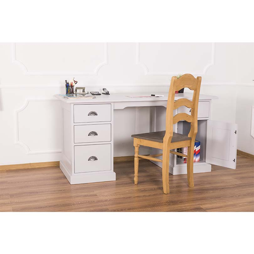 bureau avec placard et tiroirs demeure et jardin. Black Bedroom Furniture Sets. Home Design Ideas