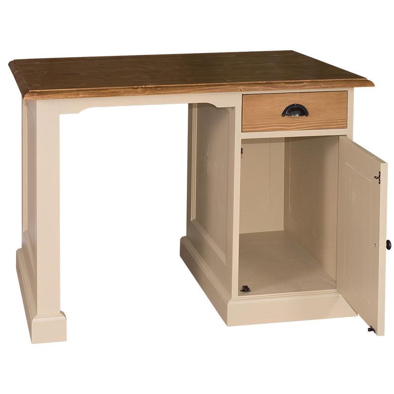 bureau en bois massif 1 placard et 1 tiroir demeure et jardin. Black Bedroom Furniture Sets. Home Design Ideas