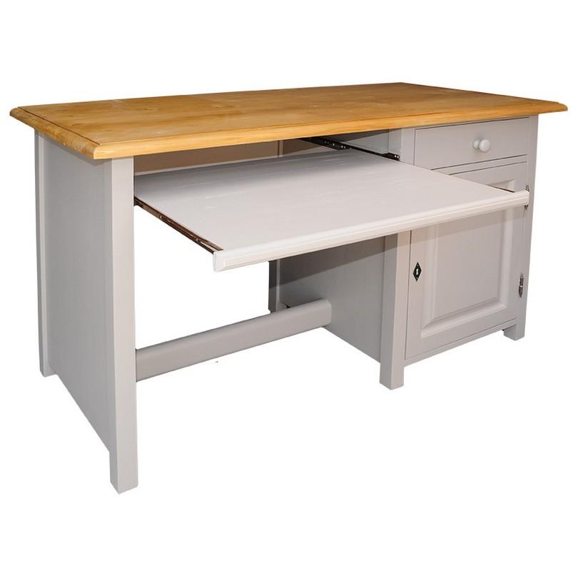 bureau d 39 ordinateur en bois massif demeure et jardin. Black Bedroom Furniture Sets. Home Design Ideas