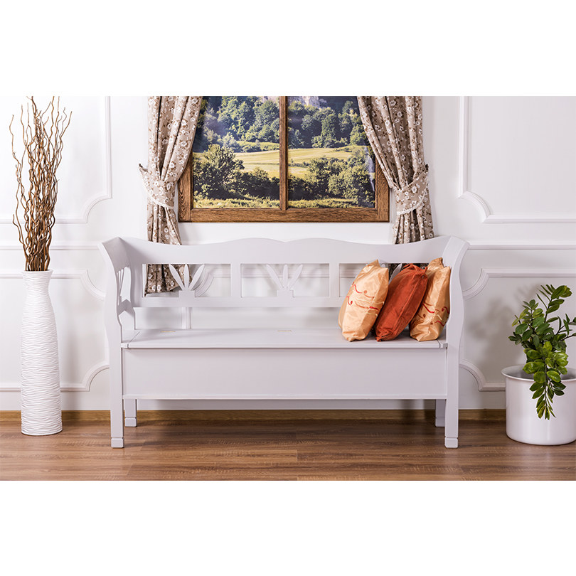 banc coffre en bois massif demeure et jardin. Black Bedroom Furniture Sets. Home Design Ideas