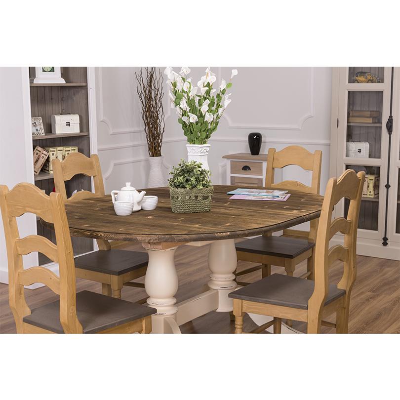 table ovale extensible avec 2 pieds en bois massif demeure et jardin. Black Bedroom Furniture Sets. Home Design Ideas