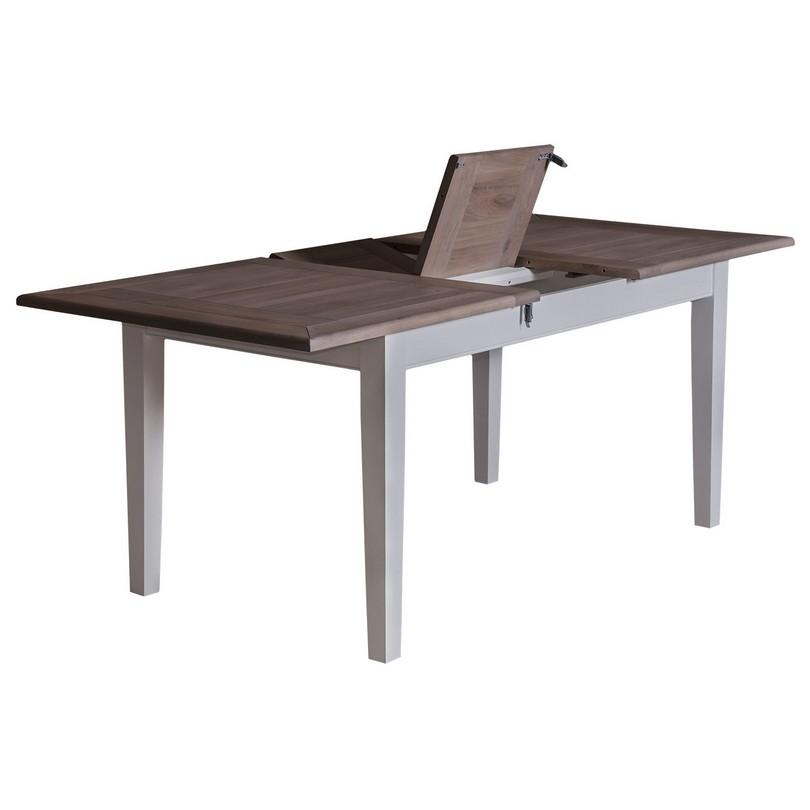 table de repas extensible avec 1 allonge centrale en. Black Bedroom Furniture Sets. Home Design Ideas