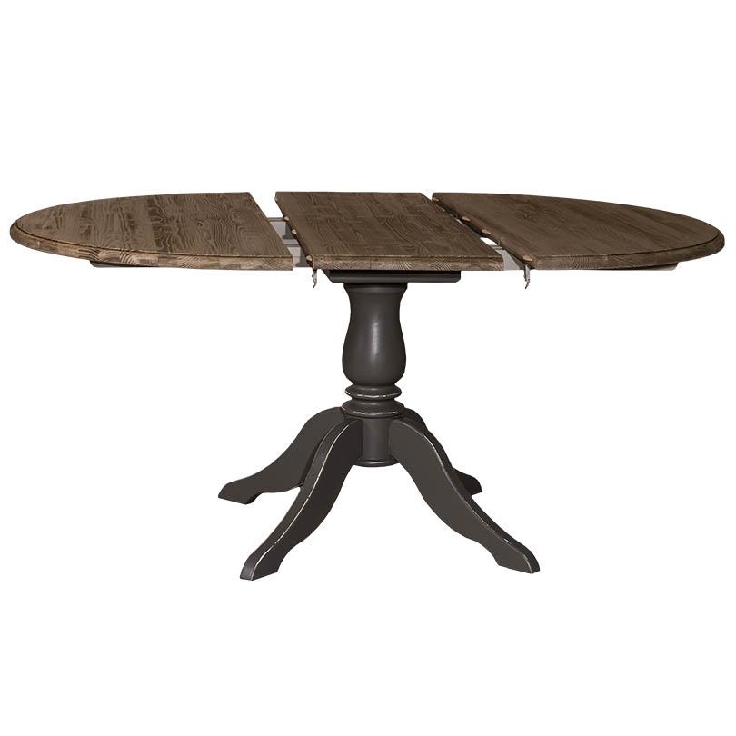 Table Ronde Ø120cm avec 1 allonge de 30cm - Demeure et Jardin