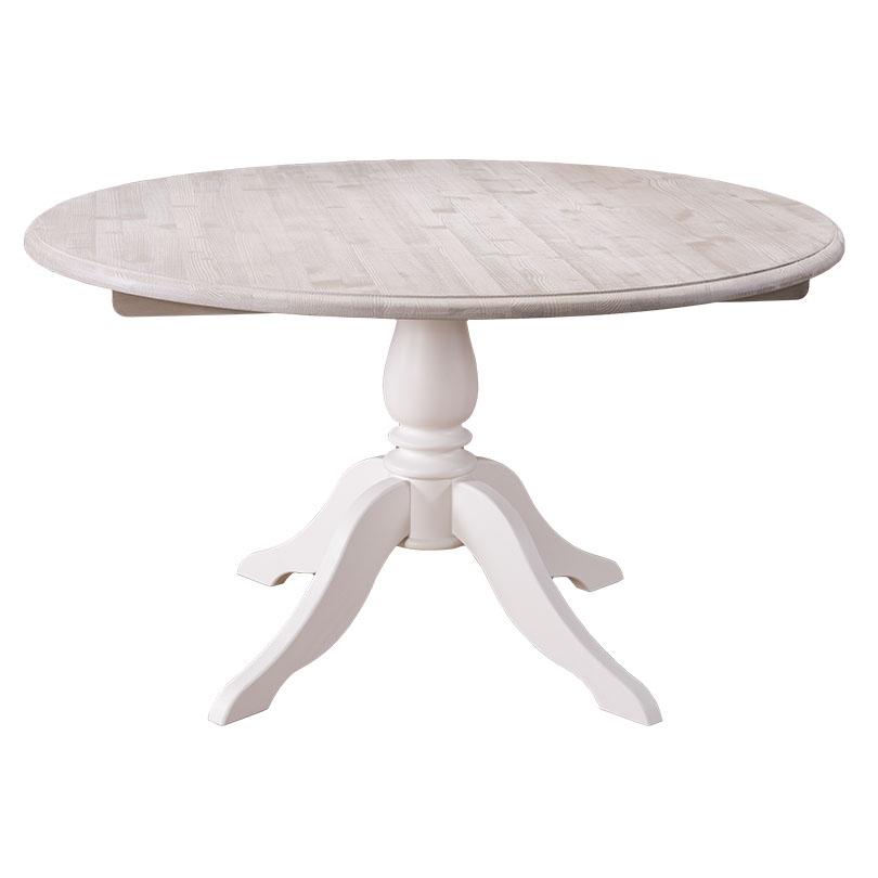 Table à manger ronde en bois massif