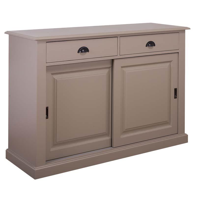 vaisselier en pin massif avec 2 portes coulissantes. Black Bedroom Furniture Sets. Home Design Ideas