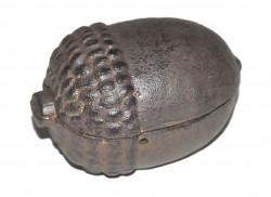 Petite boîte Gland en fonte couleur rouille