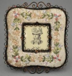 Cadre carré à fleurs
