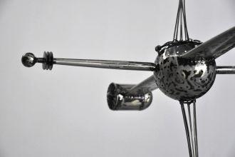 Satellite en métal à suspendre