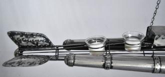 Sous-marin à suspendre métal gris acier
