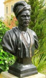 Buste en bronze homme au turban