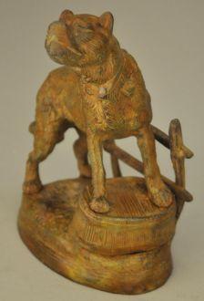 Statue Chien bronze molosse  en Bronze