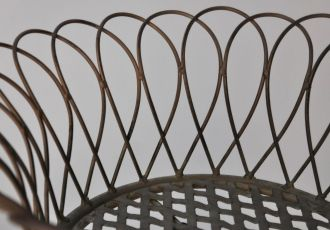 Jardinière fer forge ronde à 3 étages