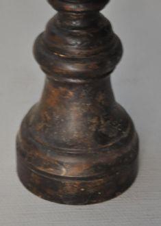 Pic cierge patine noire