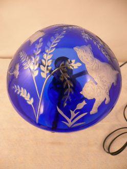 Lampe tigre bleue