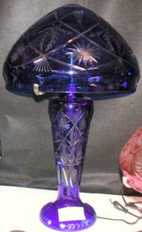 Lampe bohème bleue etoiles