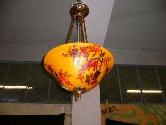 Suspension style Art Nouveau Pâte de Verre