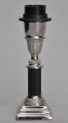 Pied de lampe métal argenté