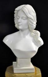 Buste en marbre Femme Cheveux Longs