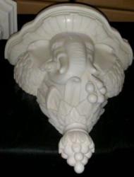 Console en marbre éléphant