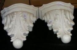 Paire consoles marbre