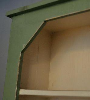 Vaisselier vert en bois rustique