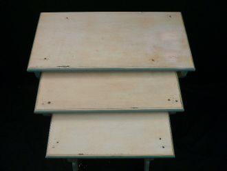Table gigogne lazuré ivoire