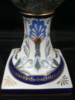 Grande urne bleue en porcelaine