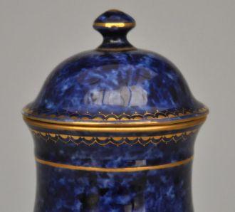 Cassolette bleue façon Sèvres