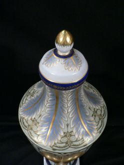 Grande urne bleue