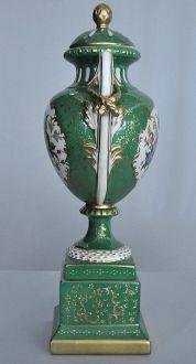 Grande cassolette Napoléon III verte