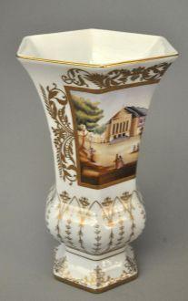 Vase octogonal empire