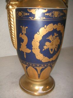 Vase bleu style Empire grand modèle