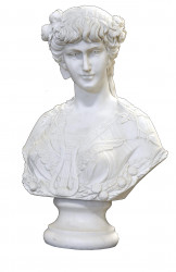 Buste Femme 18ème Marbre Blanc