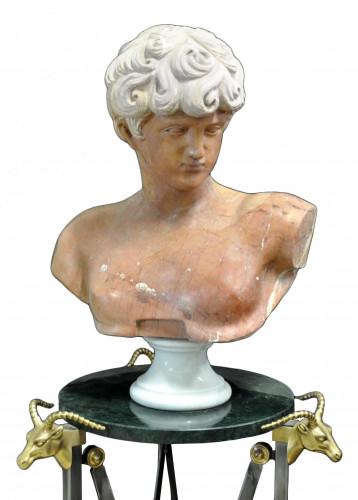 Buste en marbre EPHEBE Grec