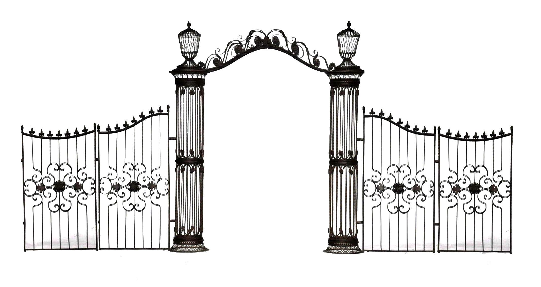 arche colonnes et grilles en fer forg demeure et jardin. Black Bedroom Furniture Sets. Home Design Ideas