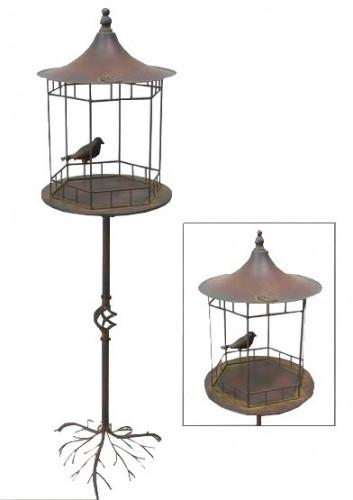 Mangeoire a oiseaux vert de gris demeure et jardin for Demeure et jardin