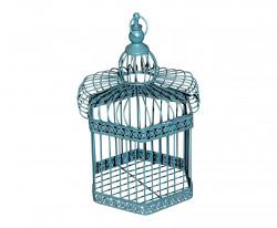 Cage Décorative Bleue grand modèle